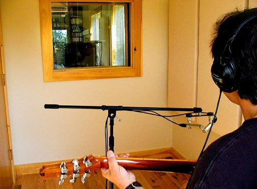 Squam Sound recording studio: Room �B�, for isolating vocals, acoustic instruments, amps, etc.
